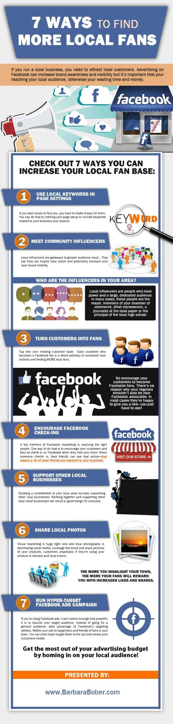 [Infographic] 7 Ways To Find More Local Fans